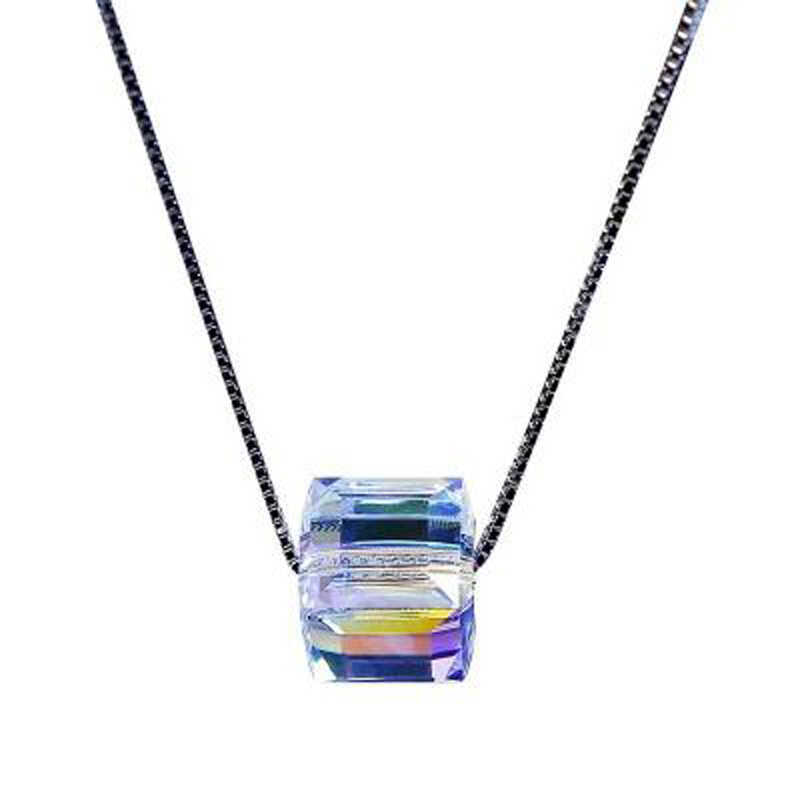 LE SKY แฟชั่นคริสตัล Moon จี้หลายชั้นสร้อยคอสำหรับของขวัญผู้หญิงผู้หญิงเครื่องประดับ