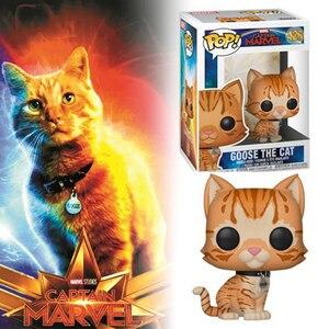 Image 2 - Funko pop filme capitão marvel figura de ação brinquedos ganso o gato modelo bonecas de vinil colecionáveis para a criança presentes aniversário brinquedo