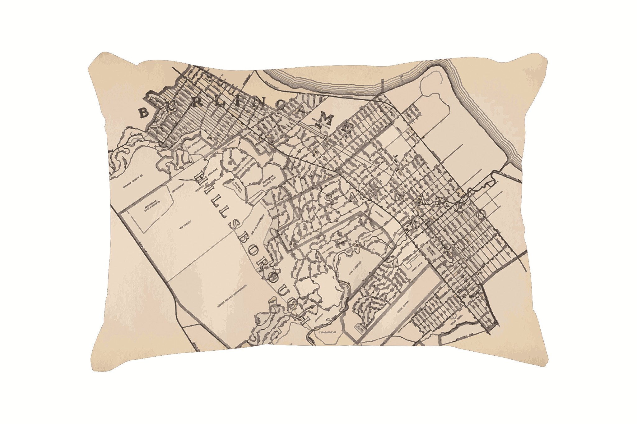 Vintage Map Pattern Customized Cotton Rectangle Throw Pillow Case Decorative <font><b>Cushion</b></font> <font><b>Cover</b></font> Pillowcase 20*<font><b>30</b></font> Inch(<font><b>50</b></font>*76cm) image