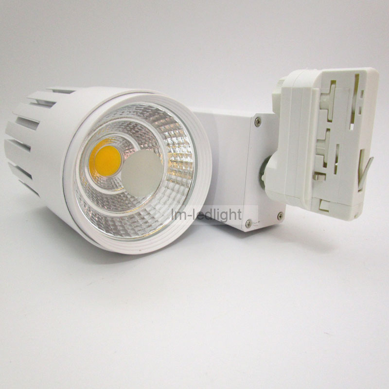Dimmable 30w Led Track Light 4 Wire 3 Phase Rail