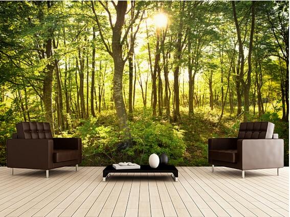 Floresta papel de parede popular buscando e comprando for Sala de estar com papel de parede 3d