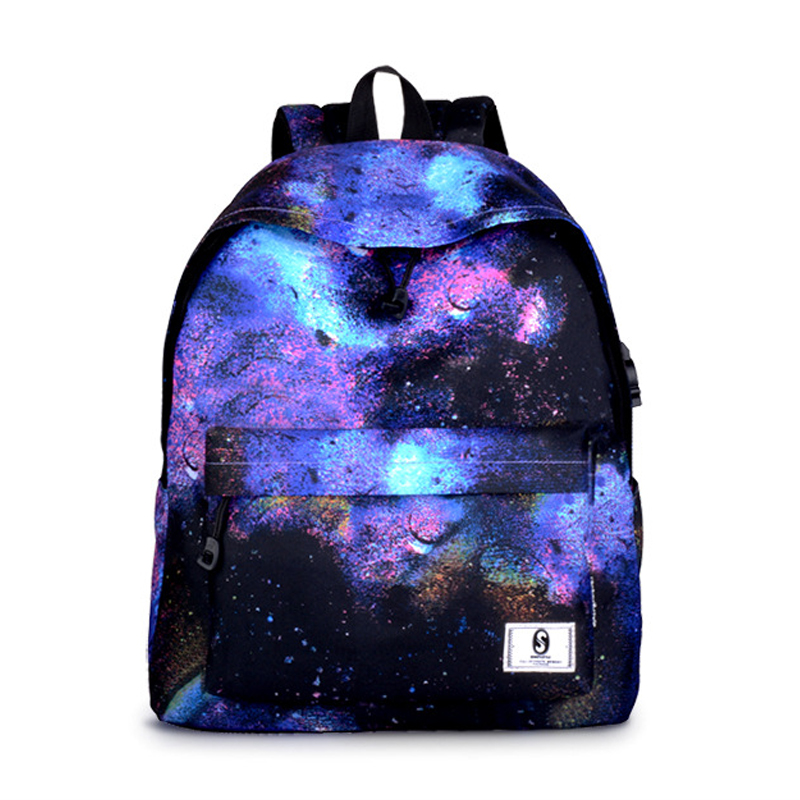 Harajuku Style Galaxy Girls Boys Travel Large Backpack school bag anti theft backpacks for adolescent girls boys laptop backpack