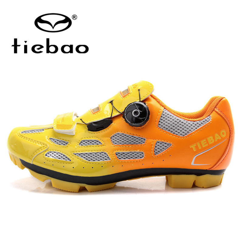 TIEBAO Professional MTB Mountain Bike Shoes Breathable Bicycle Cycling Shoes Fast Tuning Knob Laces Sport Shoes for Men Women veobike men long sleeves hooded waterproof windbreak sunscreen outdoor sport raincoat bike jersey bicycle cycling jacket
