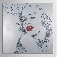Free Shipping Modern Oil Painting Hand Painted Canvas Art People Marilyn Monroe Art Museum Quality Masterpiece