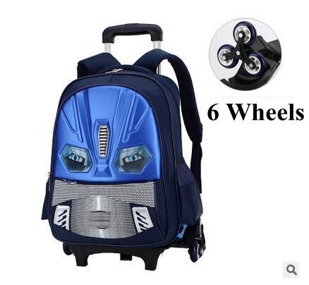 de67ca162c5 Rollende rugzak voor jongens School Trolley rugzakken wielen rugzak kid  Kinderen bagage tas kids Schooltassen Op wielen in Rollende rugzak voor  jongens ...