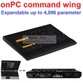 2016 Novo Controlador DMX Cópia MA onPC asa comando Console controle de 4096 Parâmetros 6 Páginas Botões Fader do Canal 4 Codificador rodas