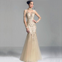 MANSA 2016 Modest Mermaid Mother Of The Bride Dresses With Sleeves Appliques Long Lace Mother Bride Dress For Weddings