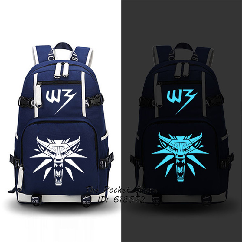 High Quality 2017 New Game The Witcher 3: Wild Hunt Printing Backpack Men Travel Bags Canvas Oxford School Bags Laptop Backpack электронная версия для xbox microsoft the witcher 3 wild hunt game of the year edition