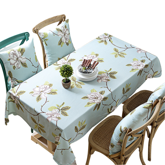 225 & US $8.45 35% OFF|Blue Print Terylene Tablecloth Table Cover Wipe Clean Skidproof Stain Resistant Waterproof Oilproof Heatproof Assorted Size -in ...