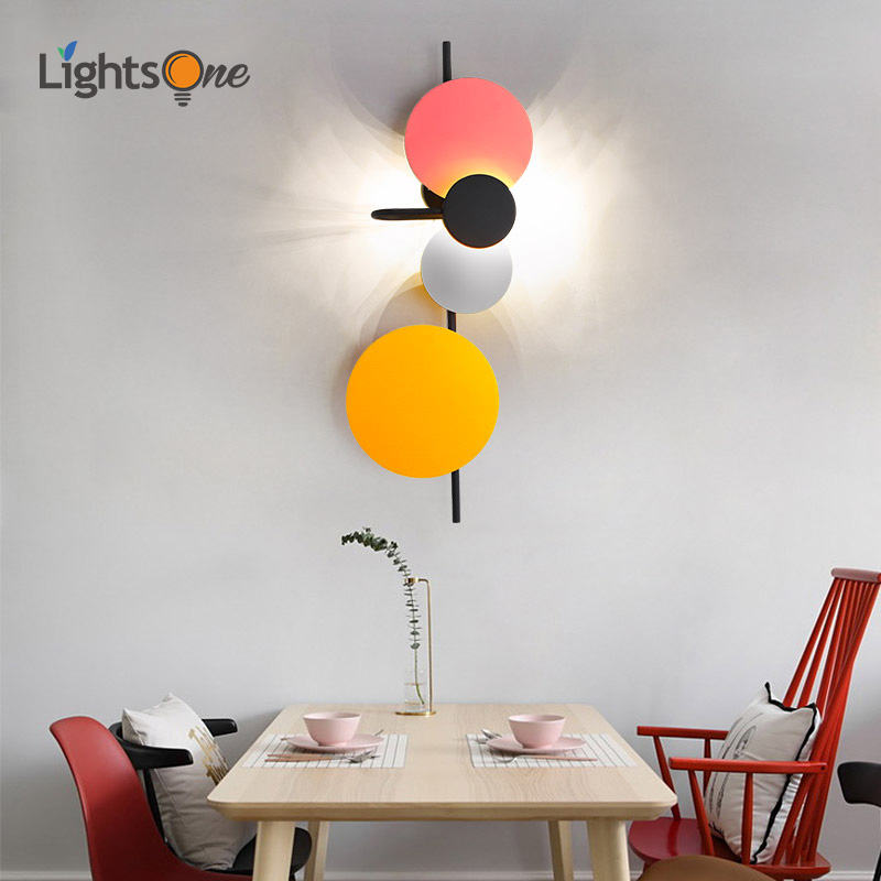 Nordic modern minimalist living room wall light aisle lights creative personality bedroom led wall lamps