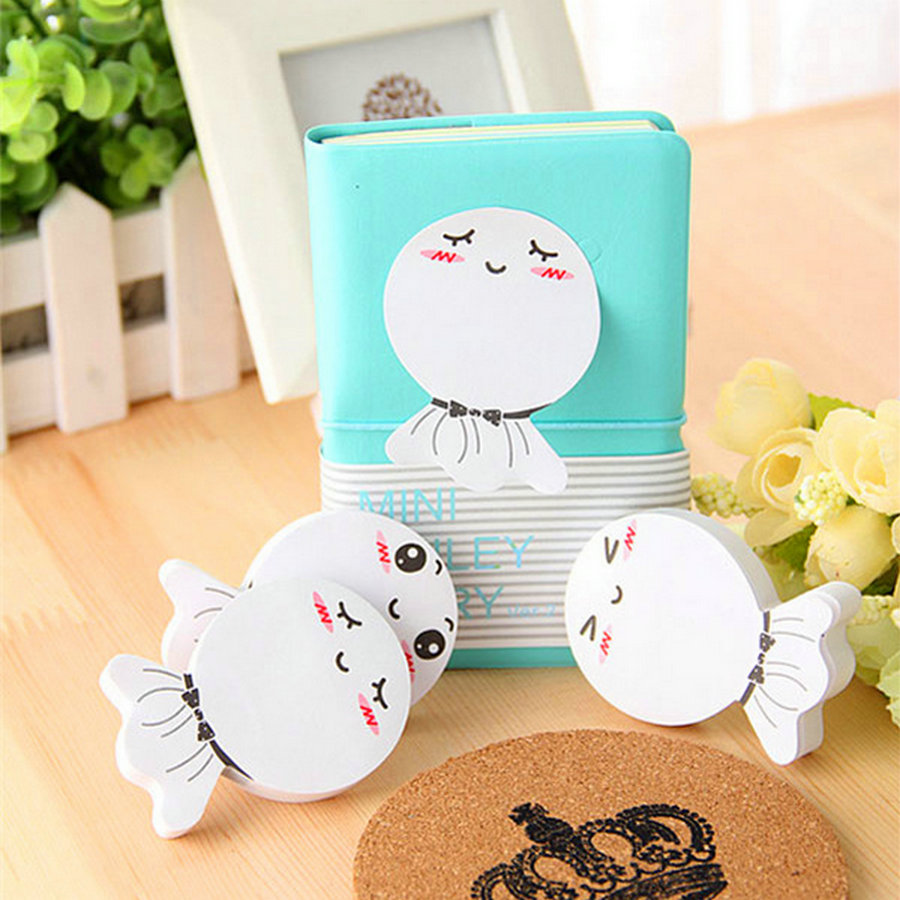 Office 70 Pages Multicolor Sticky Notes Cute Kawaii Memo Pads Sticker Post It Bookmark Marker Flags Sticker Planner Sunny Doll