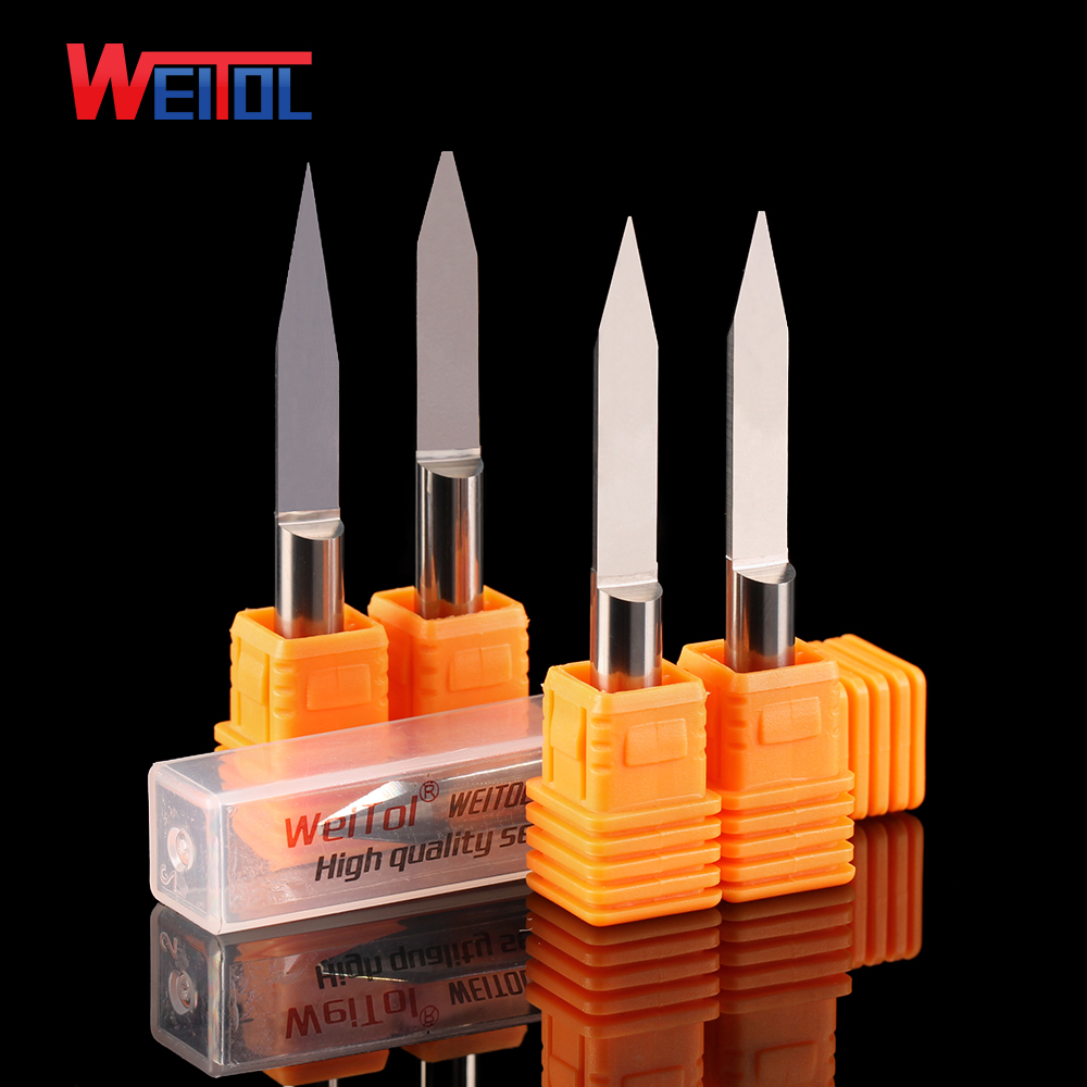 Weitol 5A series 6mm flat bottom engraving bits tungsten carbide router bit for wood/ MDF /acrylic CNC engraving machine tools 6 32 super solid carbide one flute spiral bits for cnc engraving machine aaa series