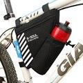 B-SOUL bicicleta triángulo BOLSA PARA BICICLETA marco delantero bolsa ciclismo bolsa de tubo con botella de agua de bolsillo bicicleta accesorios botella