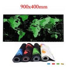 Резиновый коврик для мыши с картой мира большой настольные коврики