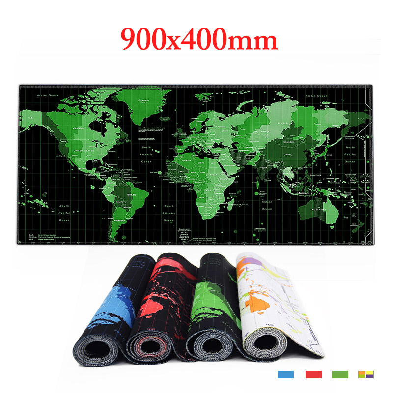 World Map Rubber Mouse Pad Large Mouse Mat Desk Mats Big Mousepads Gaming Rug XL  For Office Work/ Gaming