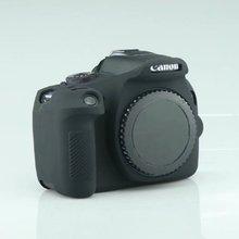 Черный Цвет Мягкая силиконовая резина Камера защитный Средства ухода за кожей чехол для Canon 1300d