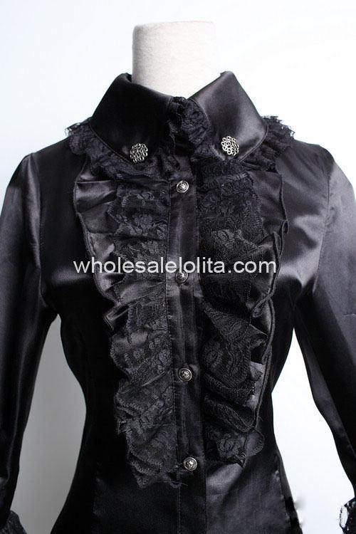 Женская блузка на заказ, зеленый шифоновый светильник со стоячим воротником и длинными рукавами, блузка Лолиты с оборками, Милая Кружевная рубашка в стиле Лолиты