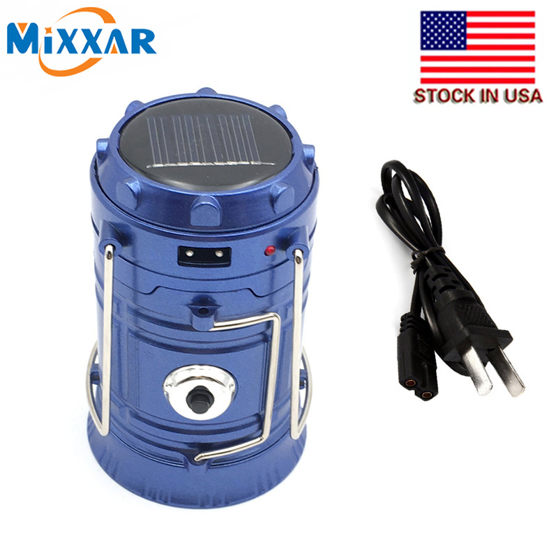 ZK30 gaya Klasik 6 LEDs Rechargeable Camping Light Dilipat Surya Camping Lantern Hiking Travel Tent Lights dropshipping