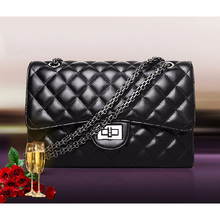 2017 Woman shoulder bag Ladies Luxury Plaid Chain purse handbag Quilted Black sac a main femme women leather handbags female bag