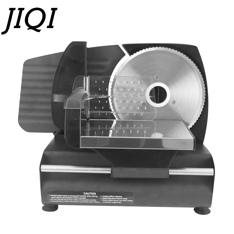 JIQI Electric Food Slicer Pork Mutton Roll Meat Grinder Frozen Beef Cutter Stainless Steel Bread Vegetable Fruit Slicing Machine
