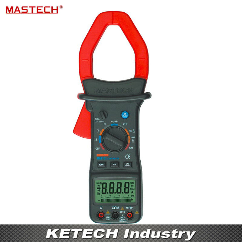 Mastech M9912 Clamp Meter AC Digital Multimeter 1000A Voltage Current Resistance Frequency Tester 1 pcs mastech ms8269 digital auto ranging multimeter dmm test capacitance frequency worldwide store