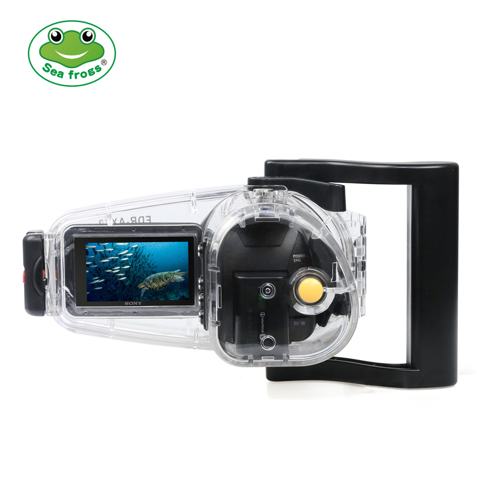 Seafrogs For Sony FDR AX30 40 55 Video Camera Housing Underwater 40m Diving Photography Waterproof Case Run Camcorder Function видеокамера sony fdr x1000v 4k