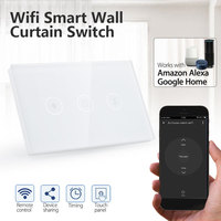 Wall Switch 120 Type Wifi Curtain Roller Switch for Wifi Electrical Blinds Switch Timing for Delay Home Appliances
