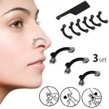 Hot 9PCS/Set Beauty Massage Tool Girl 3 Sizes Nose Up Lifting Shaping Clipper Massager Women No Pain Bridge Shaper