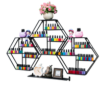 XL019,4in1 Metal iron Nail polish rack display stand Wall hanging large capacity Cosmetic storage shelf for Nail Shop & home