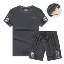 928fb3f02 Los hombres de trajes Deporte Fitness ropa deportiva de baloncesto  entrenamiento de fútbol chándales Jersey verano