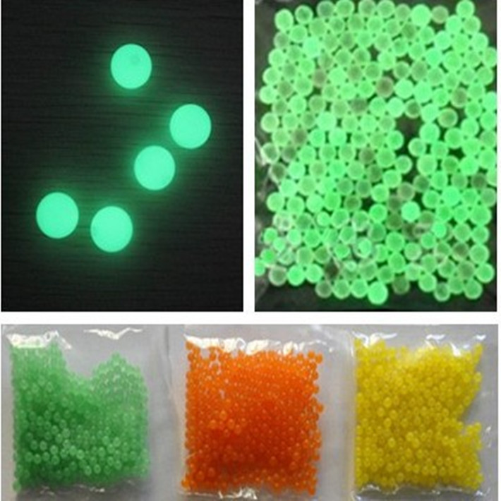 1000pcs noctilucent crystal soil mud water bead nignt for Diy bio balls