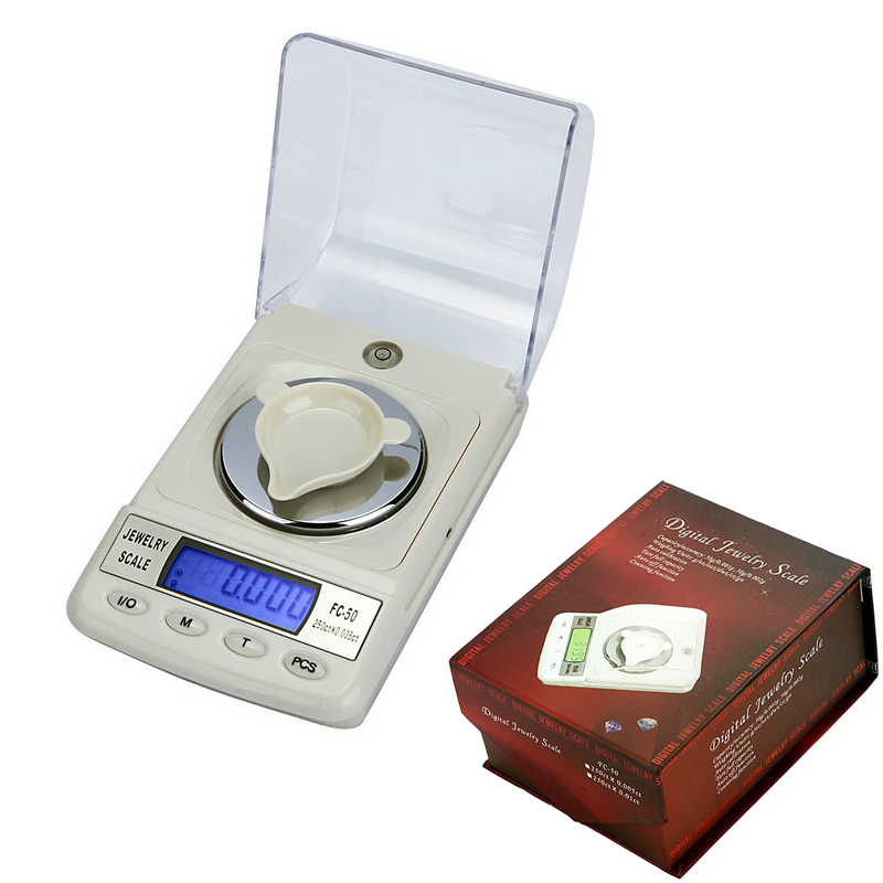 High Precision 0.001g-50g LCD Digital Gold carat Jewelry Diamond Pocket Waage Scale Gem weight