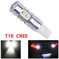20pcs Cree T10 50W LED W5W Super White Width DRL Signal Interior Lights Lamp 501 Led