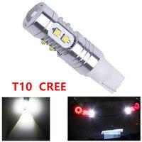 20pcs Cree T10 50W LED W5W Super White Width DRL Signal Interior Lights Lamp 501 Led