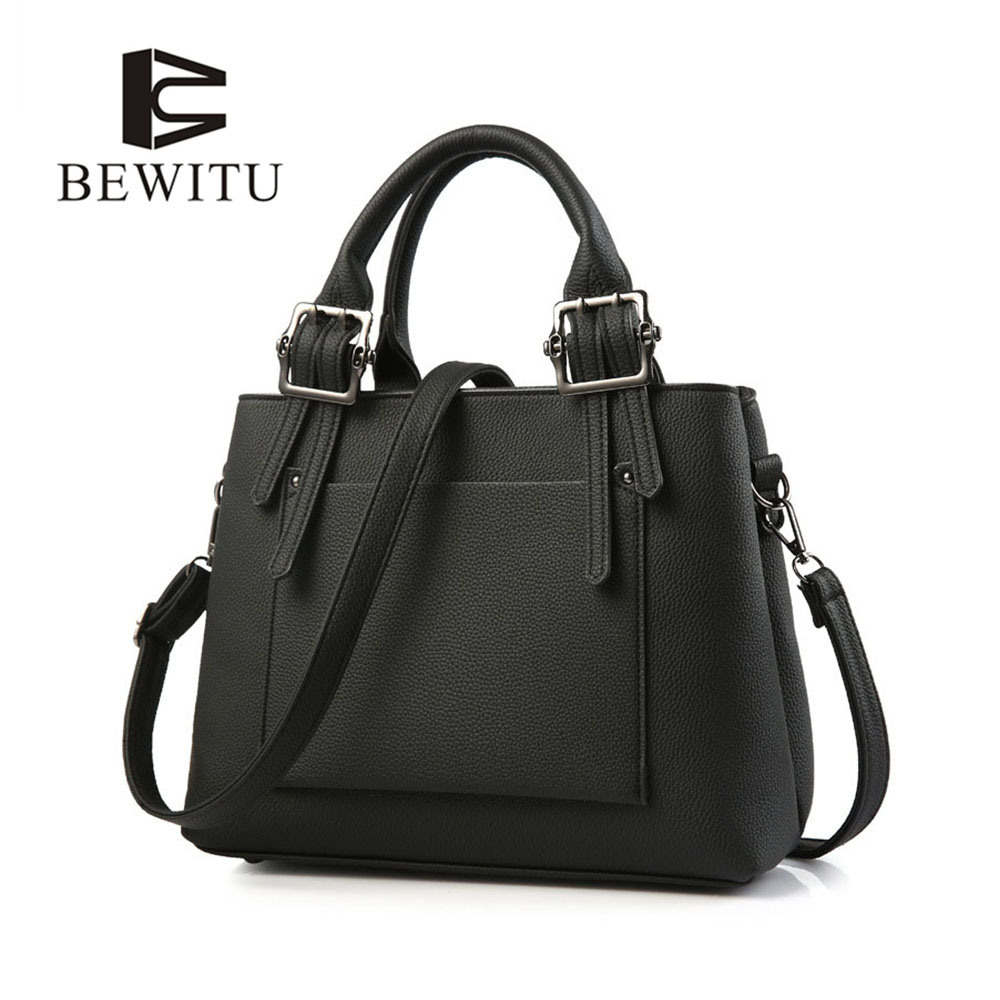 BEWITU OL Lady Bag Womens Handbags Simple Style Women Shoulder Bag Litchi Pattern Ladies Hand Bags Solid Color free shipping new fashion brand women s single shoulder bag lady messenger bag litchi pattern solid color 100