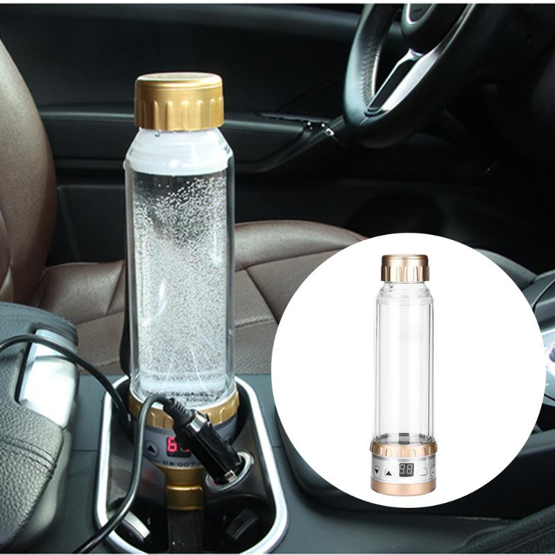 280ml 12V to 24V car electric kettle portable car electric heating Boiling Water cup making tea coffee and milk Auto Heating Cup car mounted magnetized electric water heating cup blue transparent 250ml 12 24v