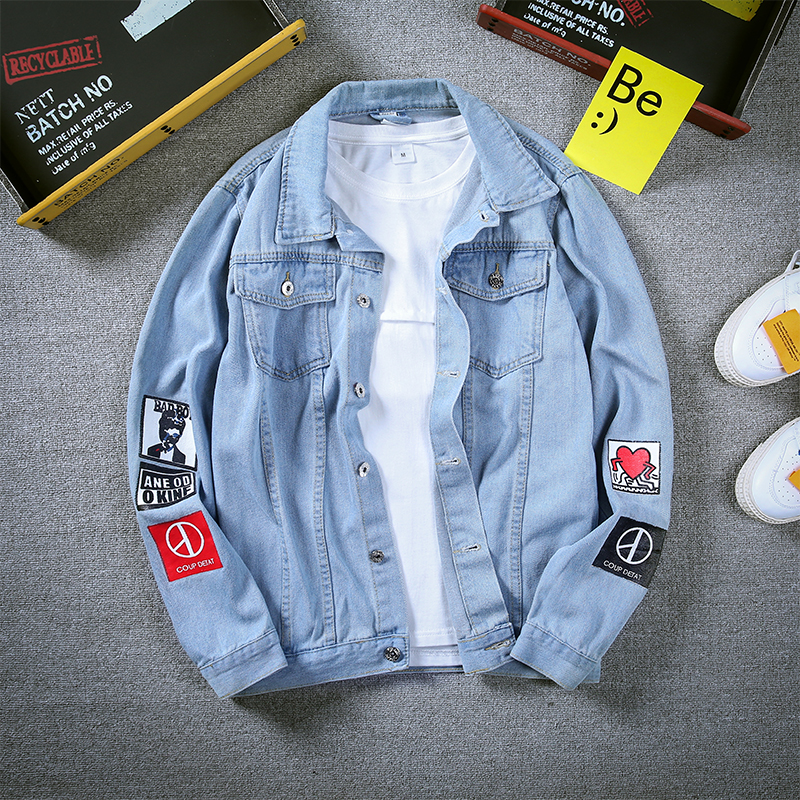 Oversized mens denim jacket 2018 New Long Single Breasted Outerwear Black Blue Denim Cowboy Jean Coats Plus Size S-4XL 5XL #926