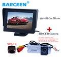 """Вид сзади автомобиля монитор 4.3 """"и автомобильная стоянка камеры 1 комплект применяется для Renault Fluence/Megane принести 4.3"""" экран + 4 ик на продажу"""