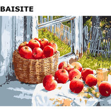 BAISITE DIY Painting Pictures By Numbers Hand Painted Canvas Modern Wall Picture For Living Room Home Decor Wall Art E495(China)