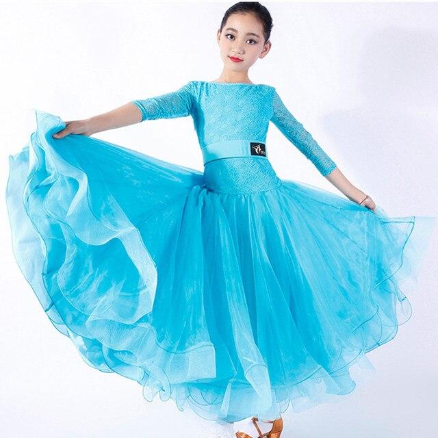 Красное детское бальное платье для бальных танцев, платья для вальса, стандартное танцевальное платье для девочек