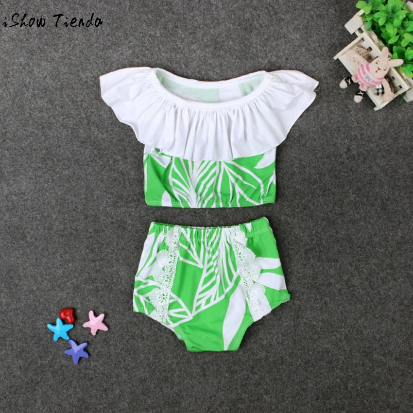 Drop Shipping Swimming Suit Infant Baby Kids Girl Printing Swimwear Bikini Set Clothes Junior Girls Swimsuit Moda Praia