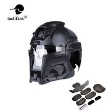 Tactical Medieval Iron Warrior Helmet Integrated Rail NVG Shroud Transfer Base Dial Knob Outdoor Sport Combat Airsoft Paintball tactifans tactical paintball medieval iron warrior helmet integrated rail nvg shroud transfer base dial knob combat airsoft