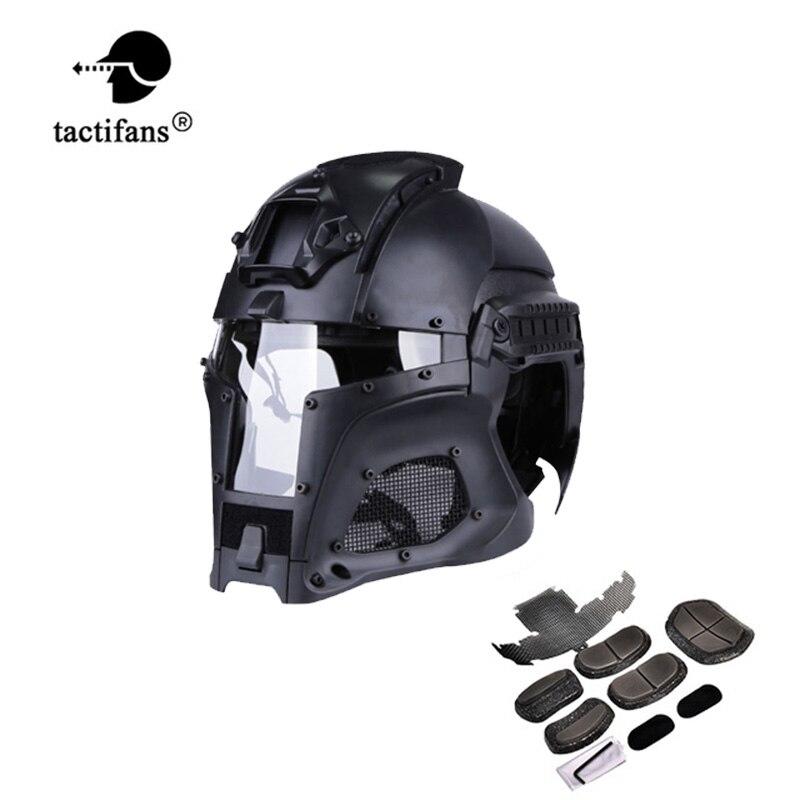 Tactique médiéval fer guerrier casque intégré Rail NVG linceul transfert Base cadran bouton extérieur Sport Combat Airsoft Paintball