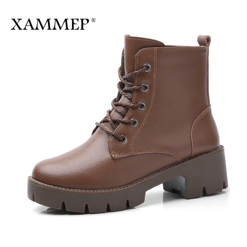 con cuero negro tobillo Zapatos divididos marrón genuinos X8Onwk0P