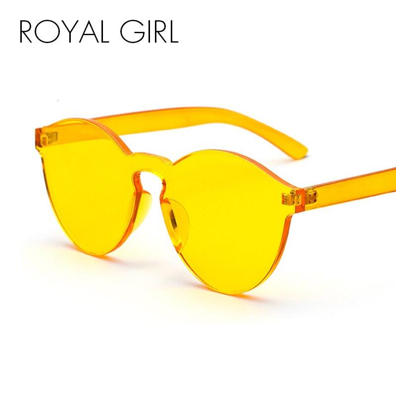MENINA ROYAL Rodada de Plástico Transparente Quadro Óculos De Sol 2018 Das  Mulheres Dos Homens Marca Designer Doce Color Clear Lens Óculos de Sol ss297 fa1c36591d