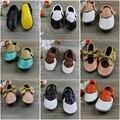 2016 parche de color zapatos de bebé de cuero genuino suave franja de moda mocasines moccs bebé antideslizante Infantil niñas niños Zapatos