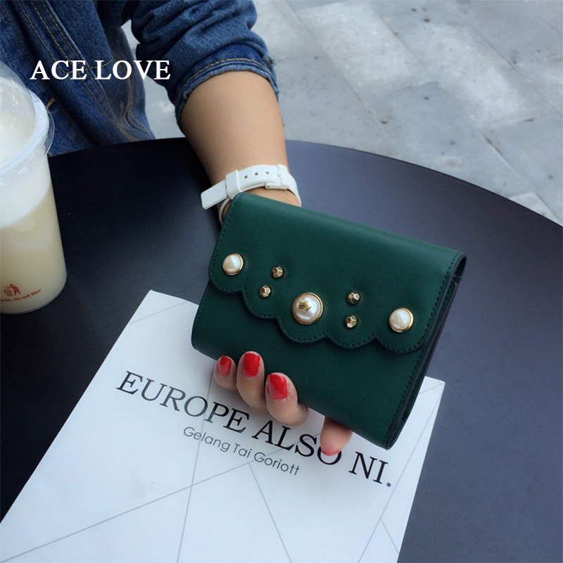 Fashion Women Short Real Genuine Leather Wallets pearl Wallet Coin Card  Holder Wallet Female Purses Ladies Purse simline fashion genuine leather real cowhide women lady short slim wallet wallets purse card holder zipper coin pocket ladies