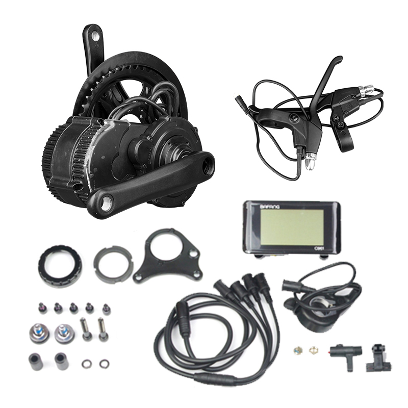 Bafang bicicleta electrica hub motor 36V 350W/250W MTB bicycle engine kit BBS01 Crank Motor with Sendor LCD ebike conversion kit free shipping authentic bafang 36v 350w electric bicycle bbs01 mid crank drive motor kit ebike c965 color 850c lcd conhismotor page 4
