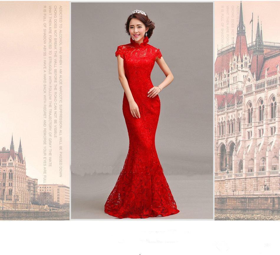 Brautkleid rot meerjungfrau spitzenkleid hochzeit, engagement ...