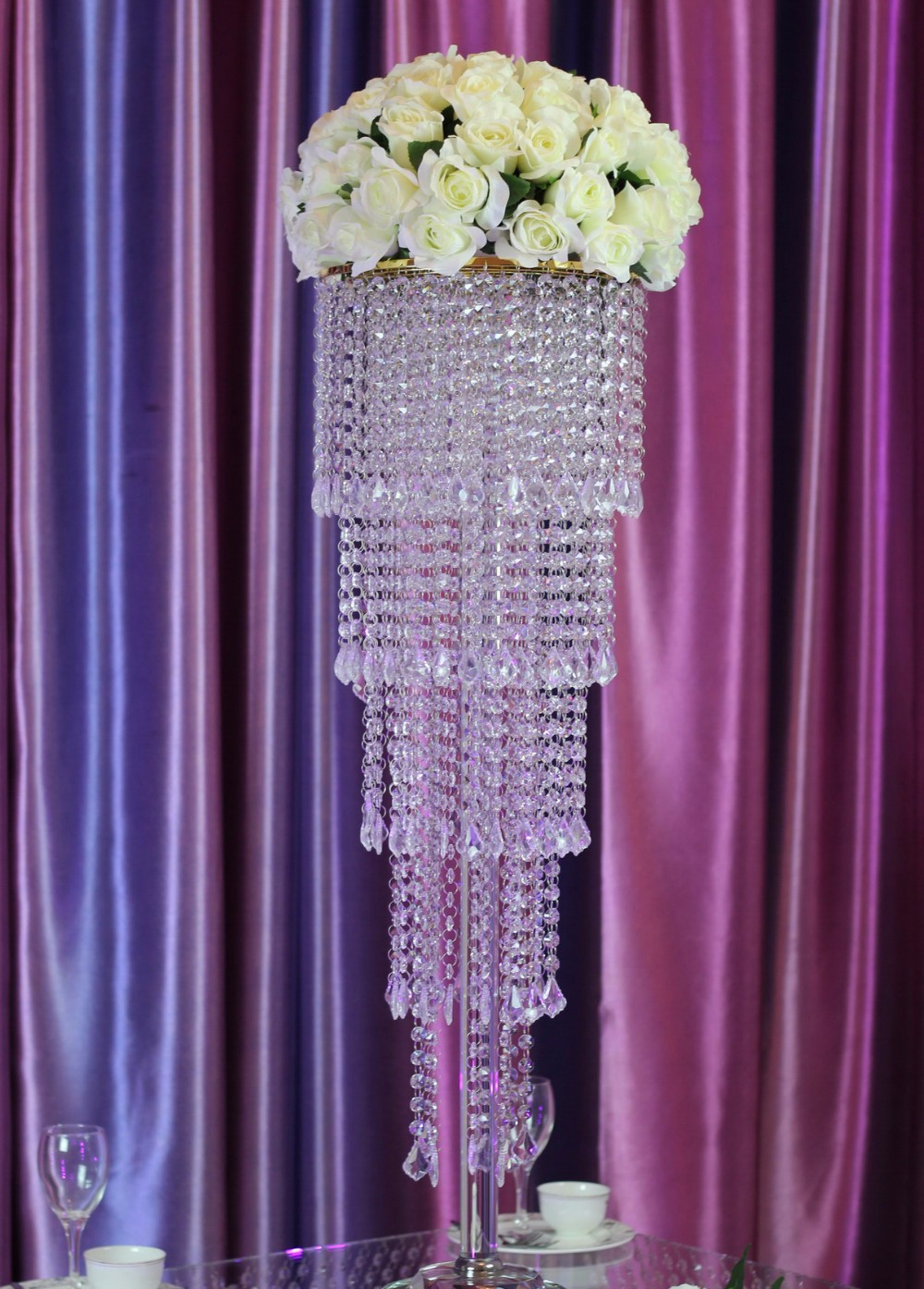 buy 80cm tall crystal table centerpiece wedding decoration flower stand wedding. Black Bedroom Furniture Sets. Home Design Ideas